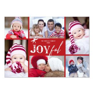 Joyful Star Christmas Holiday Photo Collage Card 13 Cm X 18 Cm Invitation Card