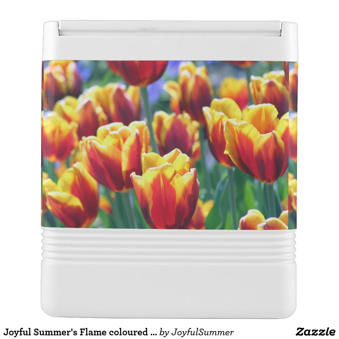 Joyful Summer's Flame coloured Tulips Igloo Cool Box