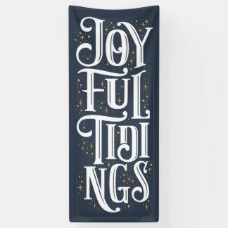 Joyful Tidings Christmas Art Holiday Decoration Banner