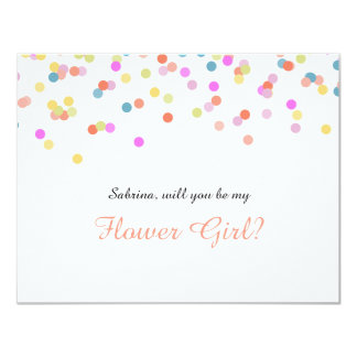 "Joyful | ""Will you be my flower girl"" Card 11 Cm X 14 Cm Invitation Card"