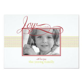 Joyful Wishes Christmas/ Holiday Photo Card