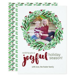 Joyful Wreath Holiday Photo Card
