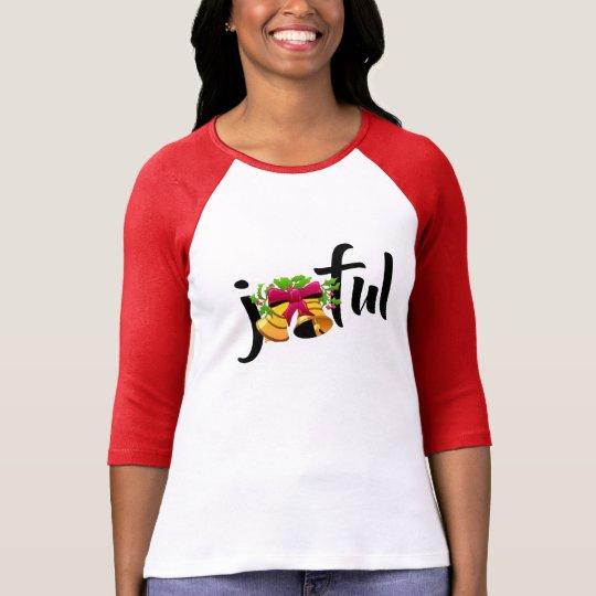 joyful xmas merry christmas t-shirt design woman's
