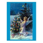"""Joyful Xmas"" Vintage Christmas Postcard"