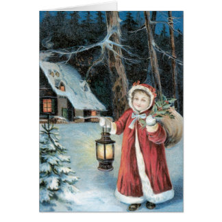Joyful Yuletide Vintage Christmas Card