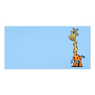 Joyfull Giraffe Photo Card