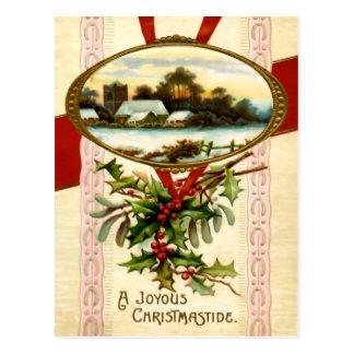 Joyous Christmastide Postcard