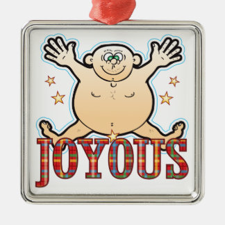 Joyous Fat Man Christmas Ornament