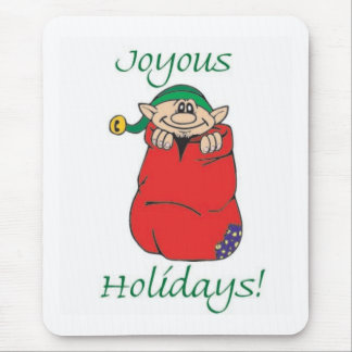 Joyous Holidays Mouse Pad