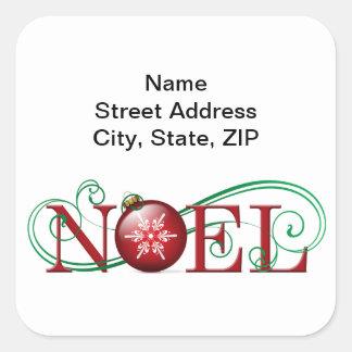 Joyous Noel Personalized Stickers