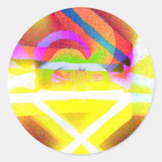 Joyous Round Sticker