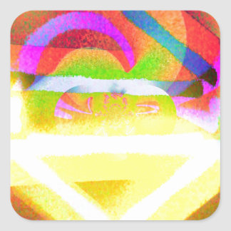Joyous Square Sticker