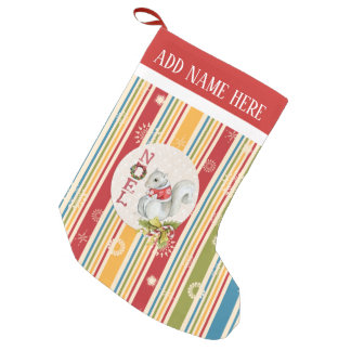 Joyous Stripes Christmas Stocking