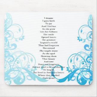 Joy's Birth Poem Mouse Pads