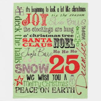 Joys Of Christmas Season Fleece Blanket