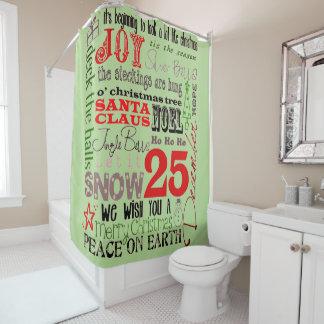 Joys Of Christmas Season Shower Curtain