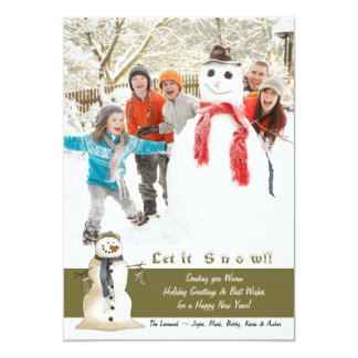 Joys of Winter - Photo Holiday Card 13 Cm X 18 Cm Invitation Card