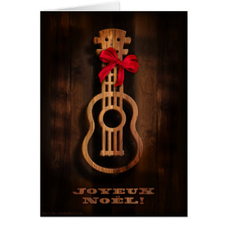 """Joyuex Noel"" Ukulele Holiday Card"