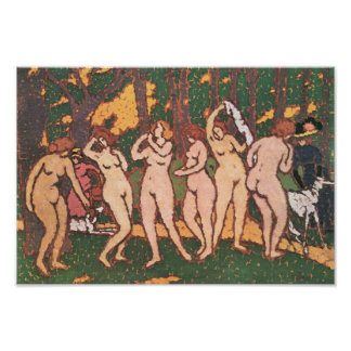 Jozsef Rippl-Ronai - Nudes in the park Poster