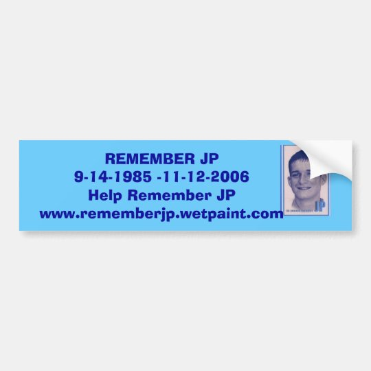 JP's Bumper Sticker - Customised