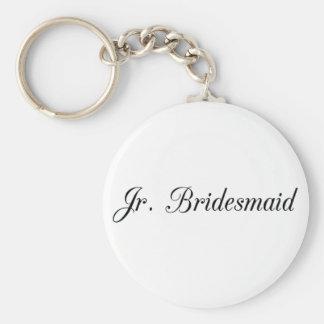 Jr. Bridesmaid Basic Round Button Key Ring