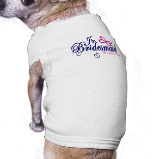 Jr. Bridesmaid/ Butterfly Theme Sleeveless Dog Shirt