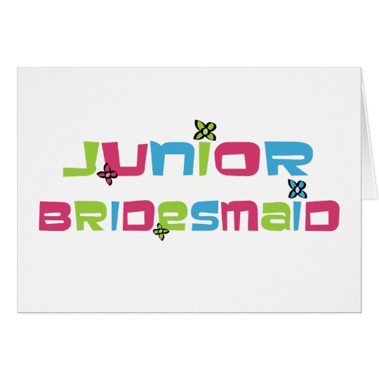Jr Bridesmaid Card