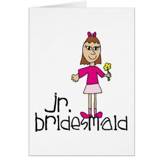 Jr. Bridesmaid Gifts and Favors Greeting Card