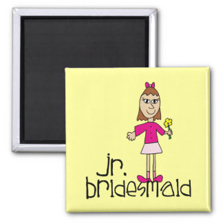 Jr. Bridesmaid Gifts and Favors Square Magnet