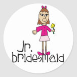 Jr. Bridesmaid Gifts and Favours Round Stickers