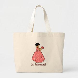 Jr Bridesmaid in Coral Bag