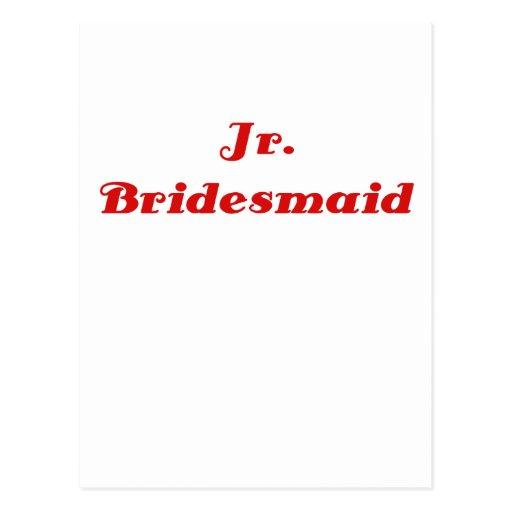 Jr Bridesmaid Postcard
