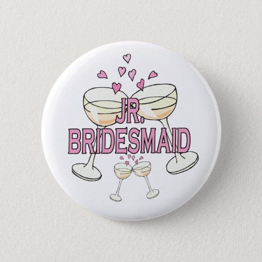 Jr. Bridesmaid Wedding ID Button