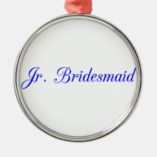 Jr. Bridesmaid's Silver-Colored Round Decoration