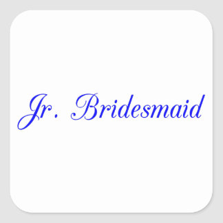 Jr. Bridesmaid's Square Sticker