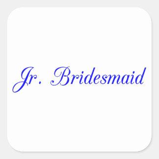 Jr. Bridesmaid's Square Sticker