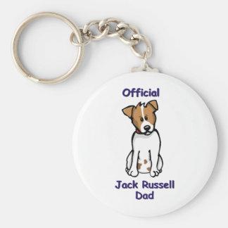 JR dad Basic Round Button Key Ring
