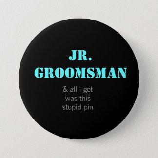 Jr. Groomsman 7.5 Cm Round Badge