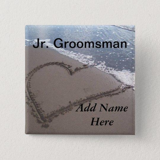Jr Groomsman Beach Wedding Button
