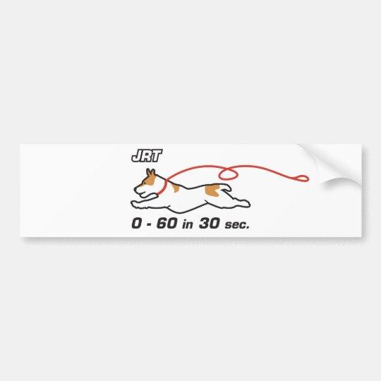 JRT 0-60 in 30 sec Bumper Sticker