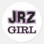 JRZ girl Classic Round Sticker
