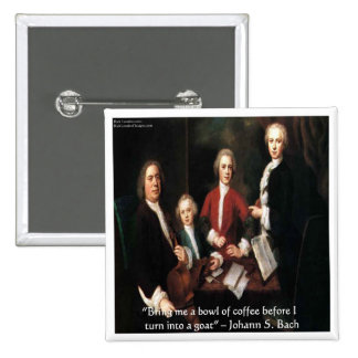 JS Bach Graphic & Funny Coffee Quote Gifts & Cards 15 Cm Square Badge
