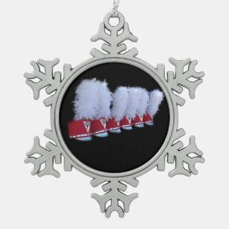 JSU SHAKO SNOWFLAKE PEWTER CHRISTMAS ORNAMENT