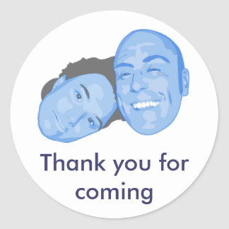 JT, Thank you for coming Round Sticker