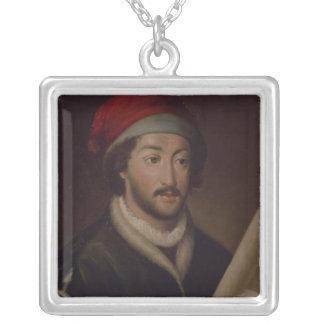 Juan de la Cosa Silver Plated Necklace