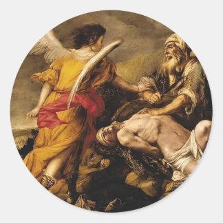 Juan de Valdes Leal- The Sacrifice of Isaac Round Sticker