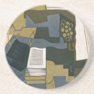 Juan Gris Carafe and Book Sandstone Coaster