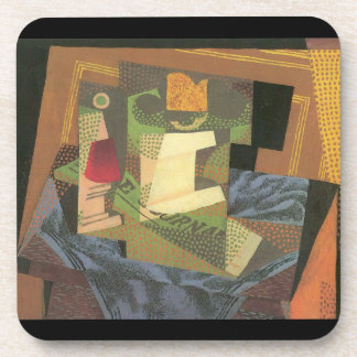 Juan Gris - Fruit bowl on a table cloth Coaster