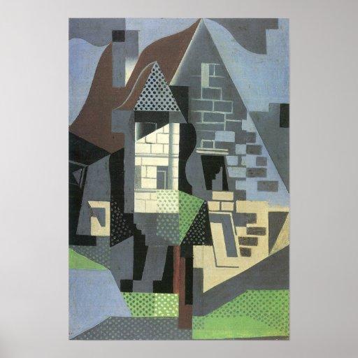 Juan Gris - Houses in Beaulieu Poster