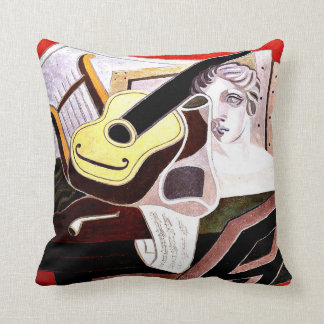 Juan Gris - Musician's Table, Juan Gris painting Cushion
